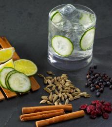 Gin, juniper, cardamom, cucumber